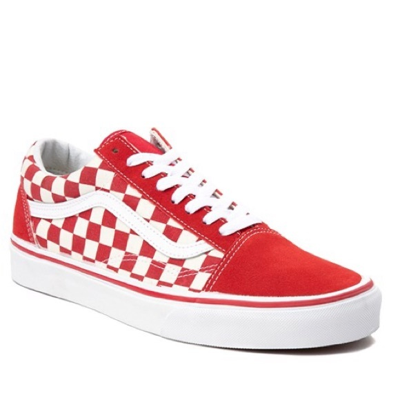 Vans Shoes | Red Checkered Vans | Poshmark